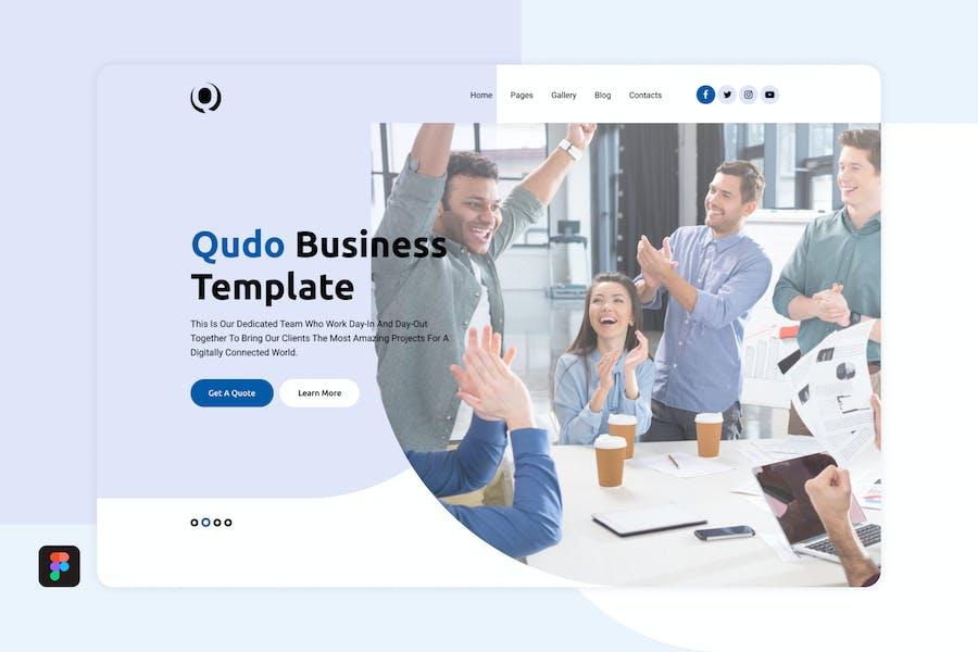 Qudo Business Hero Header Template