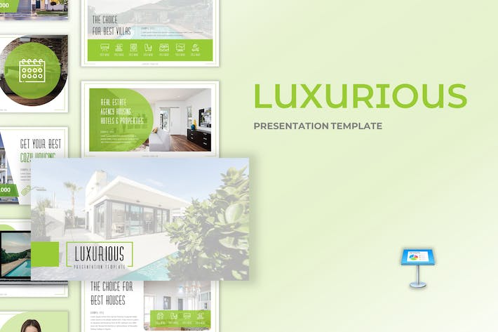 Thumbnail for Luxurious - Real Estate Google Slides Template