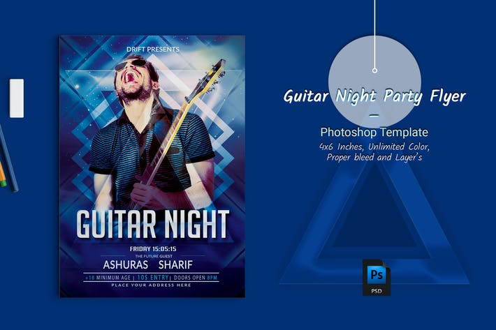 Thumbnail for Guitar Night Party Flyer