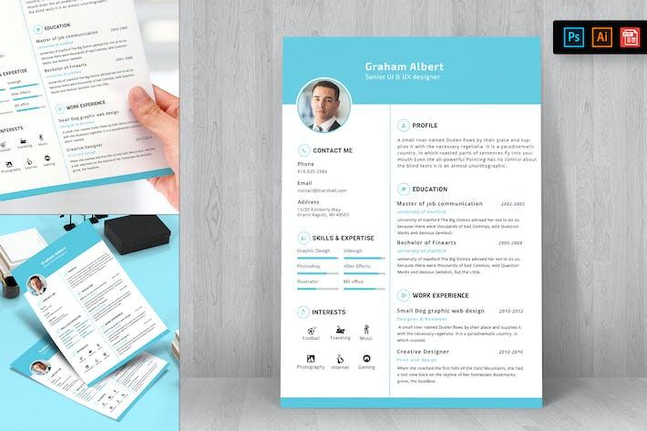 Thumbnail for Resume CV Template-21