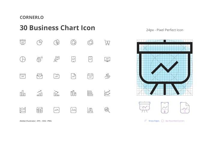 Thumbnail for CORNERLO - Business Chart Icon Set