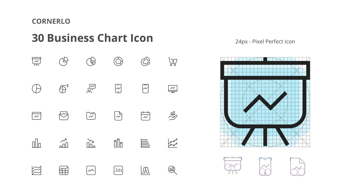 Download CORNERLO - Business Chart Icon Set by spacestudios