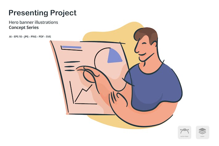 Thumbnail for Presenting Project Vector Illustration