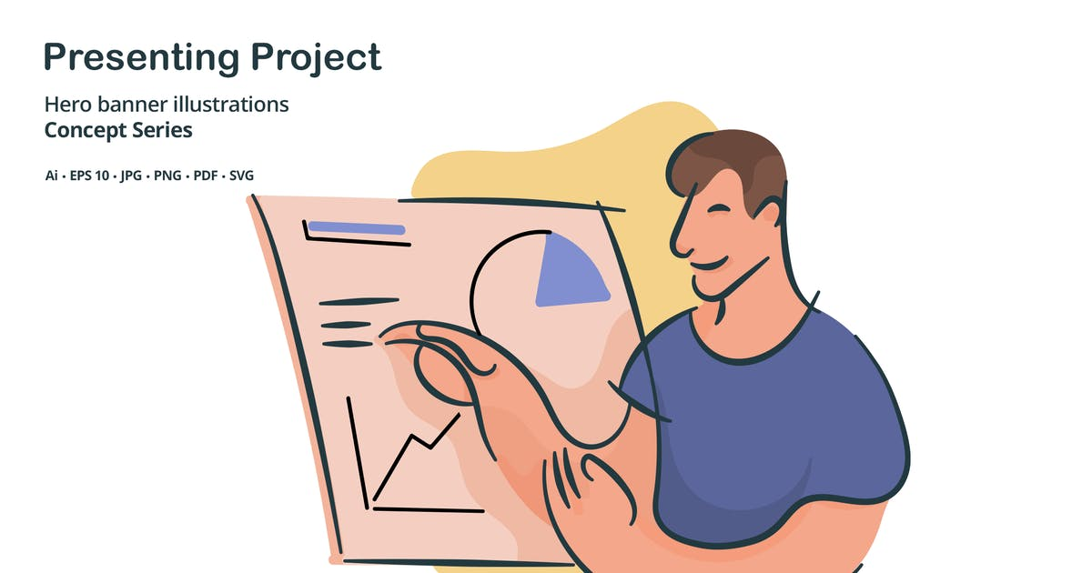 Download Presenting Project Vector Illustration by roundicons