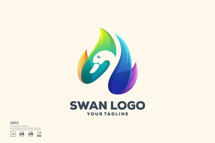 Thumbnail for Swan color logo design