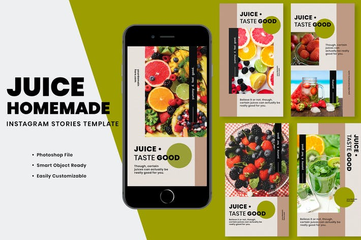 Thumbnail for Juice Homemade Instagram Stories Template