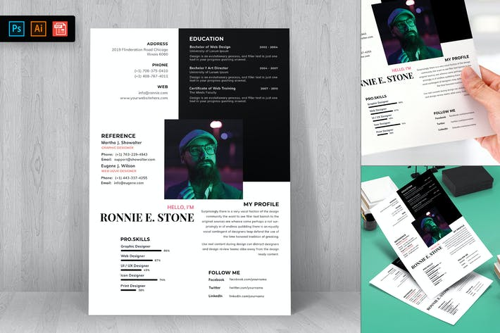 Cover Image For Resume CV Template-81