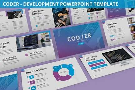 Coder - Development Powerpoint Template