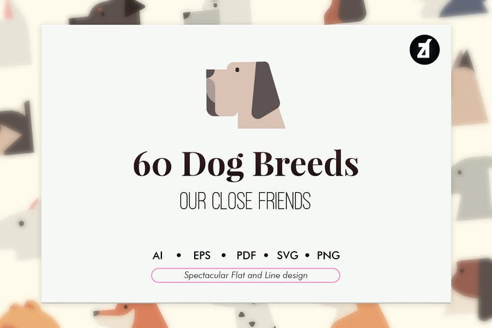 Cover Image For 60 Dog breeds elements