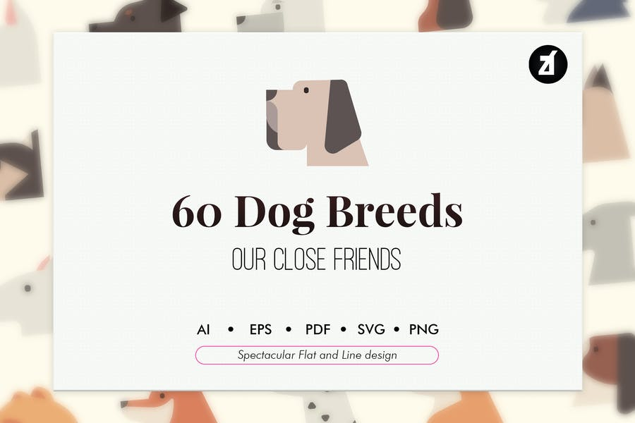 60 Razas de perros Elementos