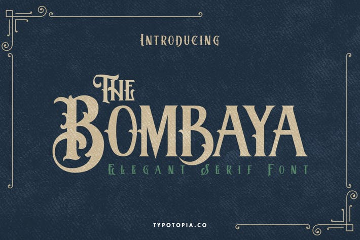 Bombaya Vintage Display Font
