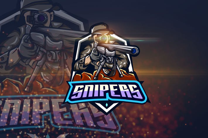 Thumbnail for Snipers - Shooter eSport Logo Template