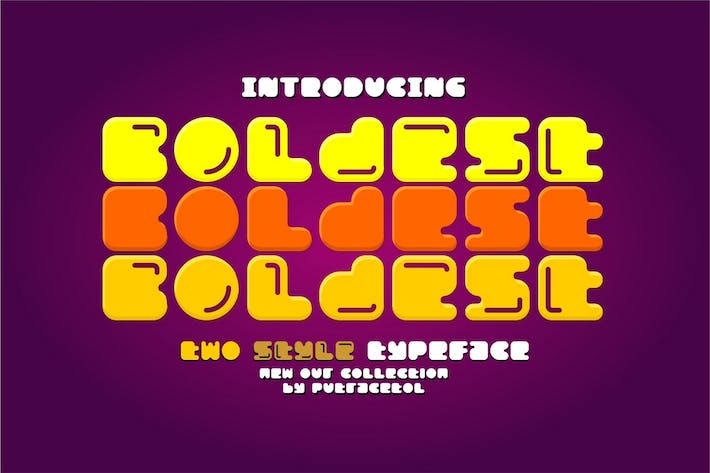 Thumbnail for Boldest - Two Style Typeface