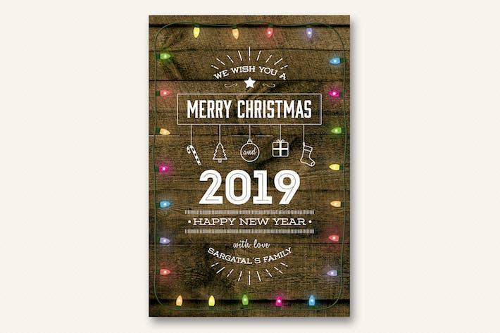 Thumbnail for Tarjeta de Navidad y Año Novedad - Volumen 03