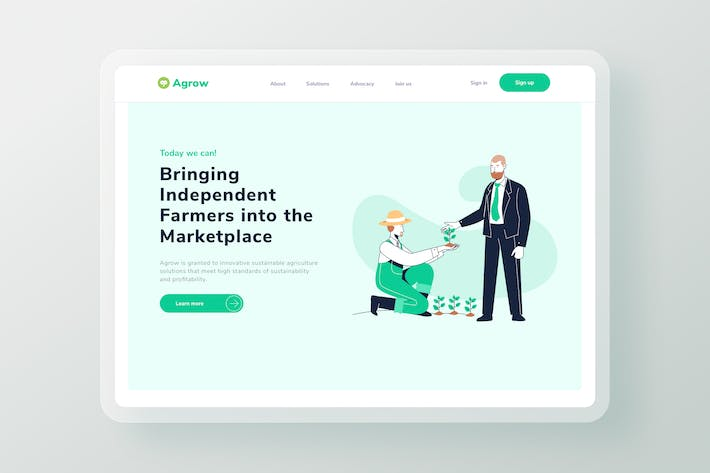 Thumbnail for Agriculture business investment landing page