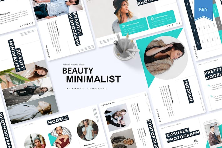 Thumbnail for Beauty Minimalist | Keynote Template