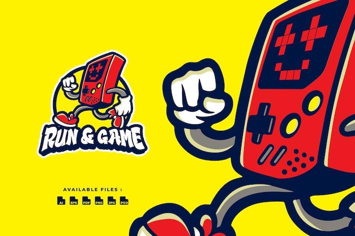 Thumbnail for Run & game Cartoon Logo