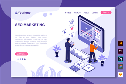 Seo Marketing - Page de destination