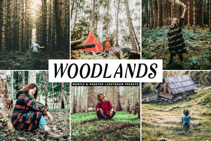 Thumbnail for Woodlands Mobile & Desktop Lightroom Presets