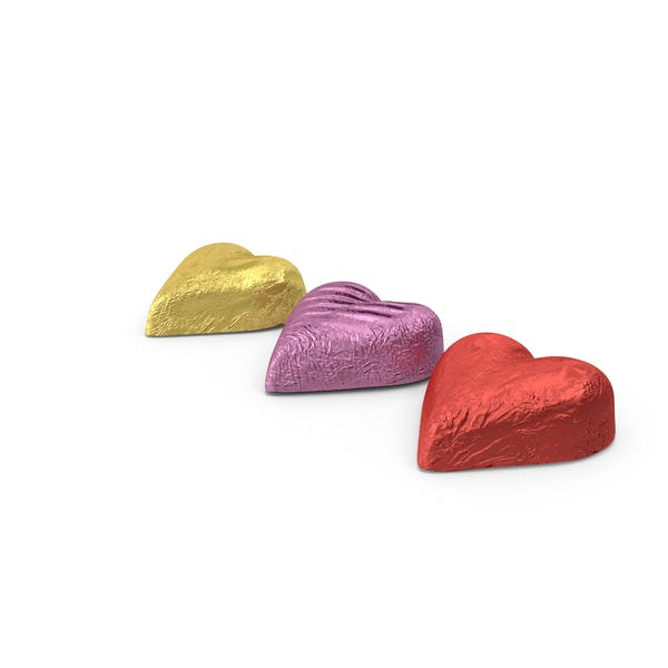 Chocolate Candy Hearts in Foil