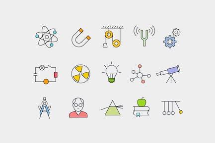 15 Physics Concept Icons
