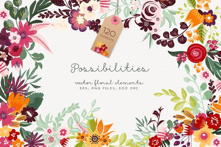 Thumbnail for Possibilities - Vector Floral Elements