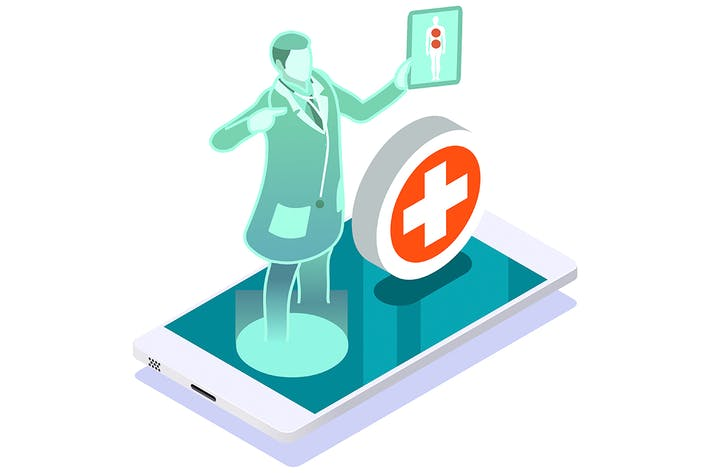 Clinic of medical health woman medicine diagnosis
