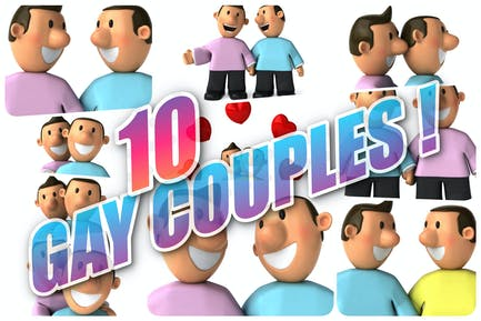 10 Gay Couples !