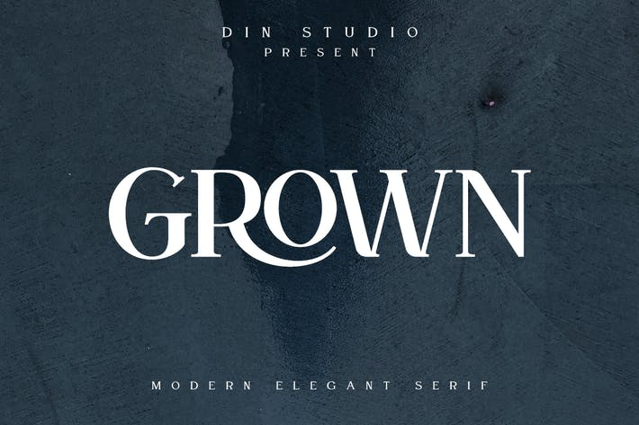 Thumbnail for Grown - Modern Elegant Serif Font