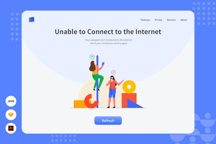 Can't Connect to Network - Website Header
