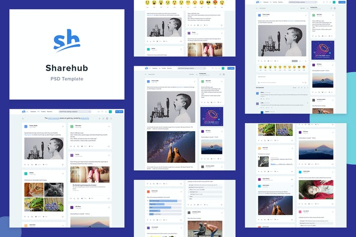 Thumbnail for Sharehub Content Sharing PSD Template