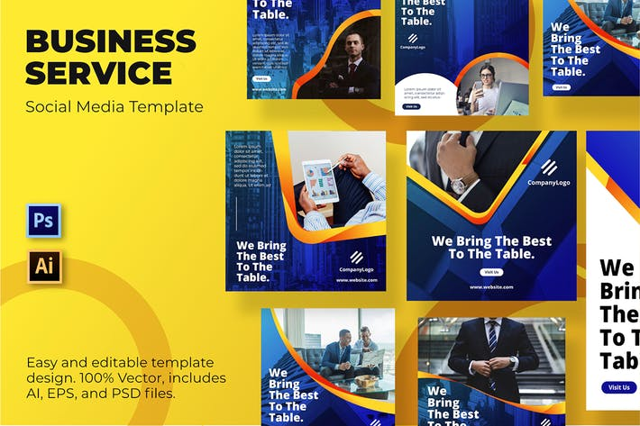 Thumbnail for Business Service Social Media Template