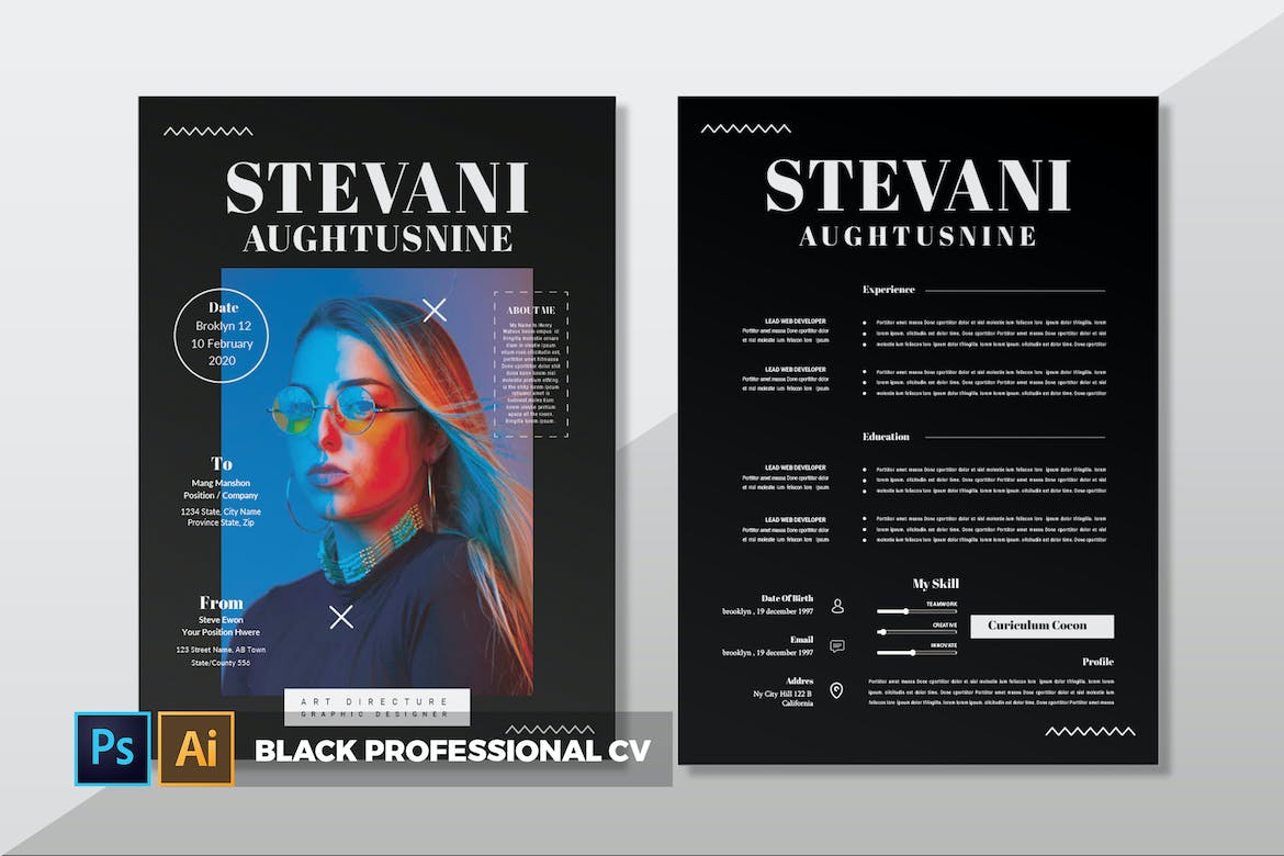 Black-Professional-CV-Resume