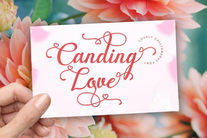 Thumbnail for Canding Love - Script Font