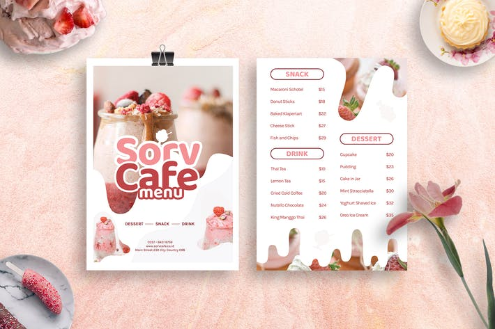 Ice Cream Menu Design Template