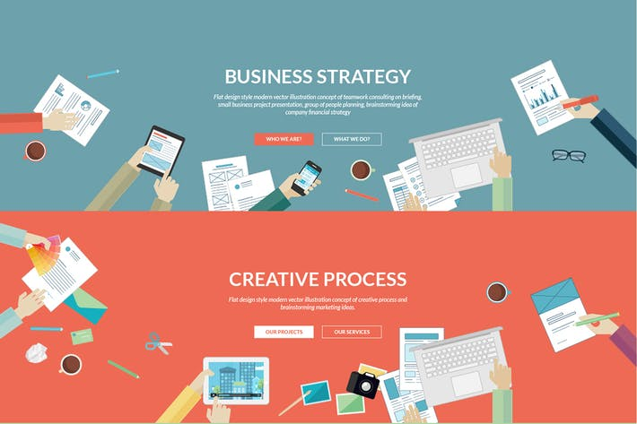 Thumbnail for Flat Concepts for Business and Creative Process