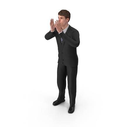 Hombre de negocios John Animando