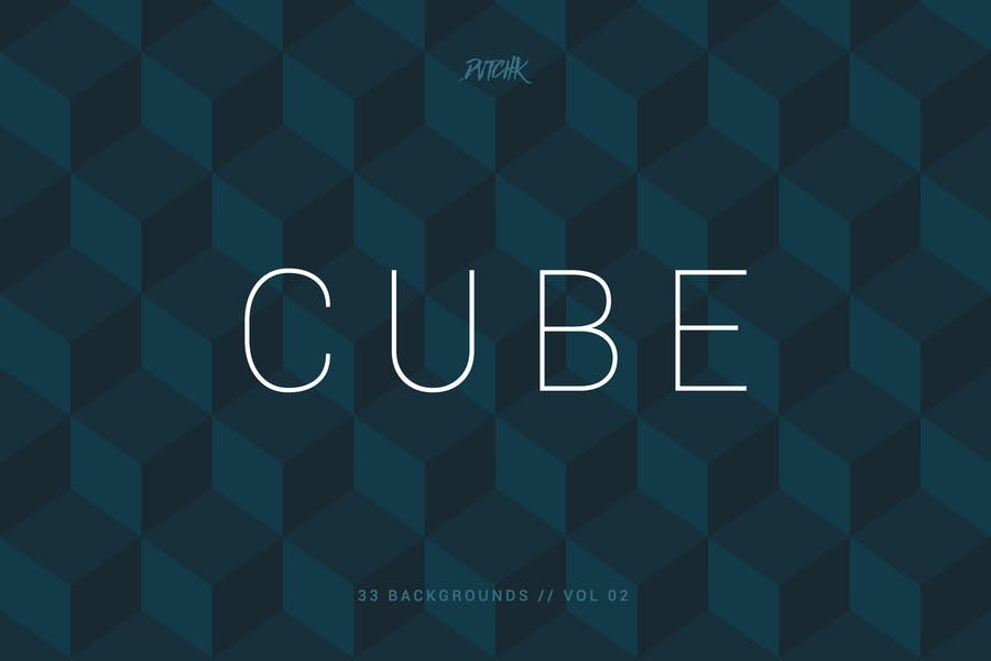 Cube| Seamless Geometric Backgrounds | Vol. 02