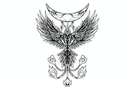Phoenix with three heads