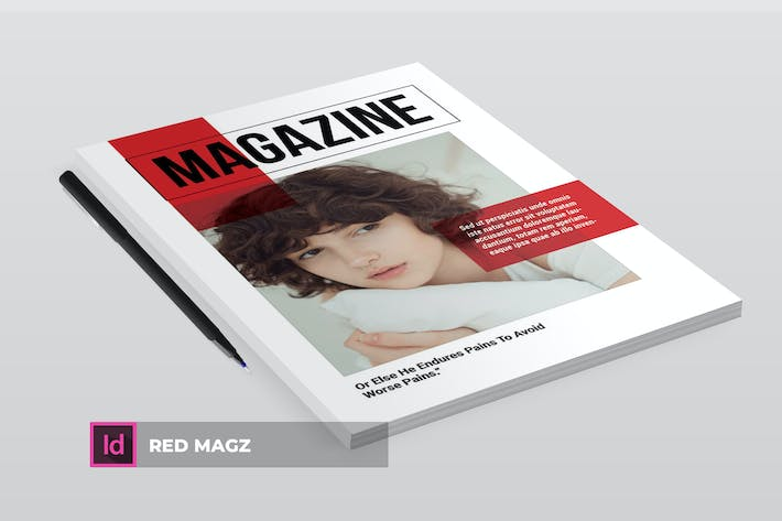 Thumbnail for Red Mag | Magazine Template