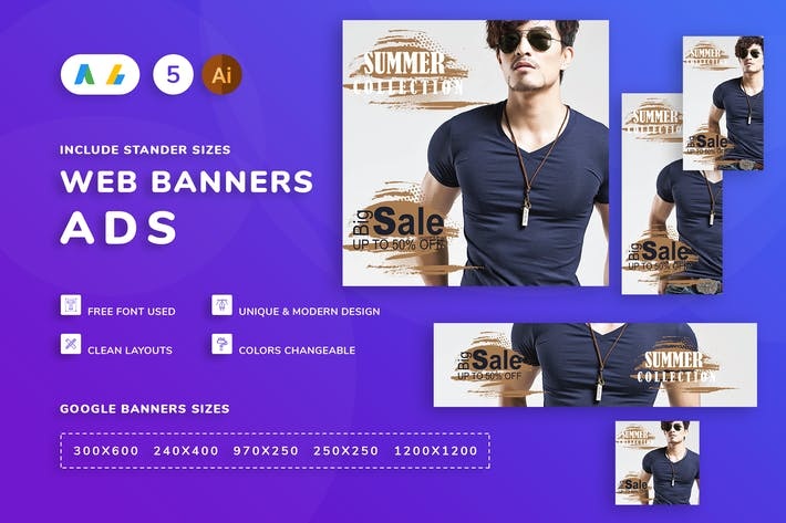 Cover Image For Seals Men Clothes Banner Template