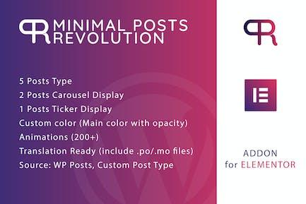 Minimal Posts Revolution For Elementor Plugin