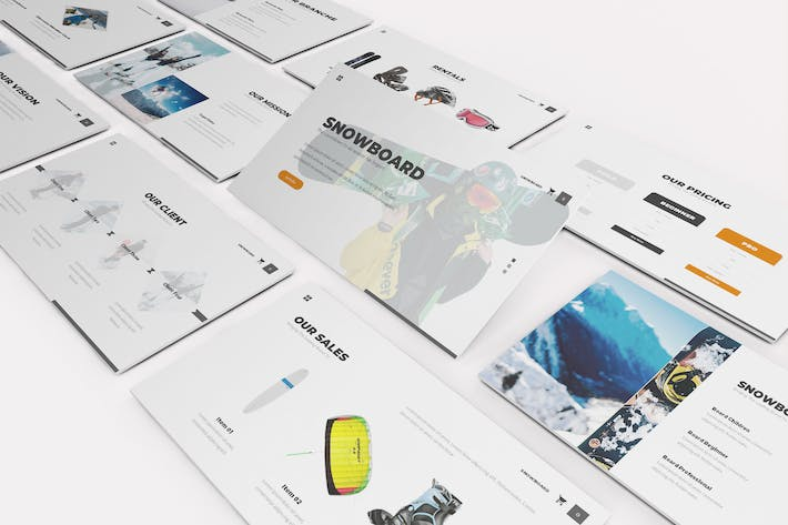 Thumbnail for Snowboard Google Slides Template