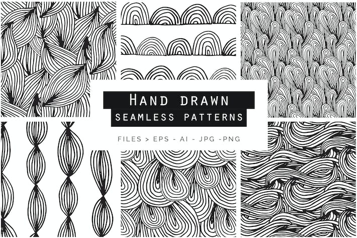 Thumbnail for Hand Drawn Doodle Patterns