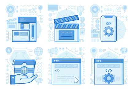 Branding UI UX Illustrations