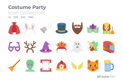 Costume Party Color Icon