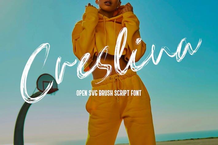 Thumbnail for Creslina - SVG Brush Script Font YR