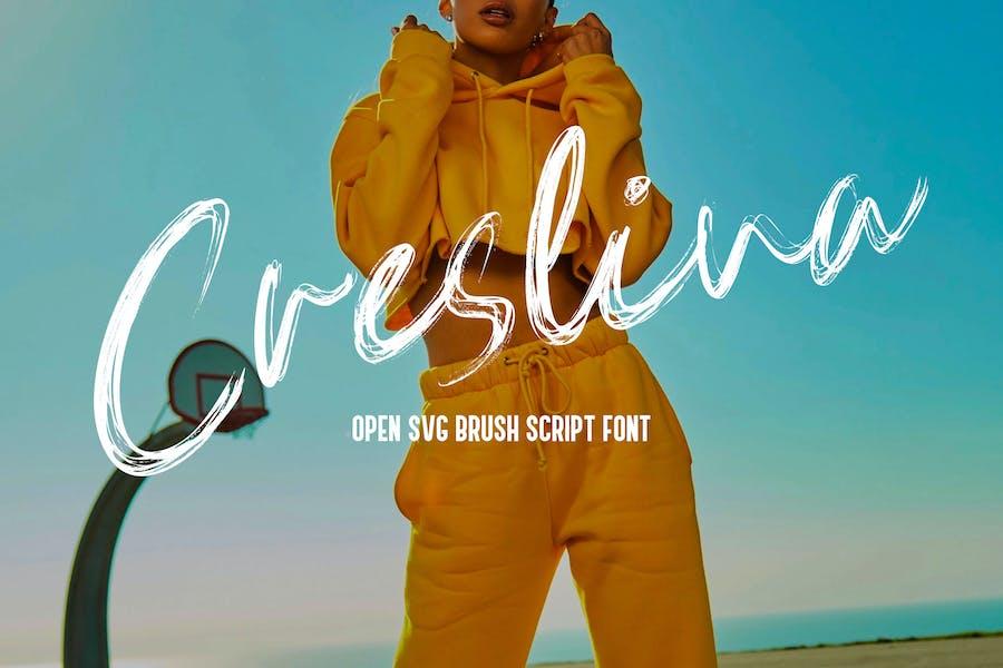 Creslina - SVG Brush Script Font YR