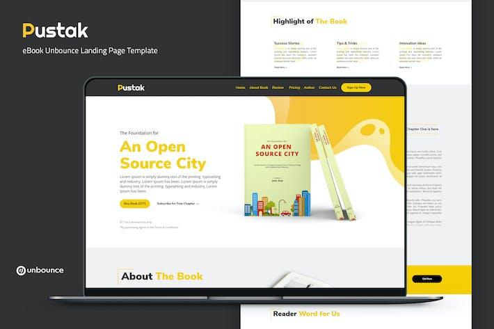 Pustak — Plantilla de página de inicio de eBook Unbounce