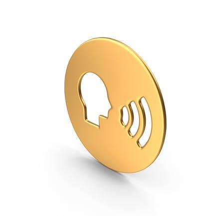 Dialogue Symbol Gold
